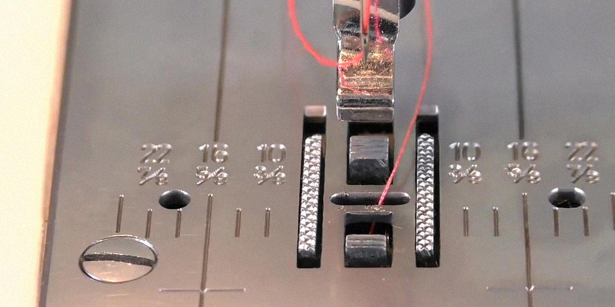 Неровно стоящие зубцы швейной машины